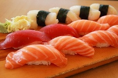 5 most common types of Japanese Sushi