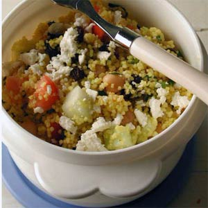 Cooking Recipes: Couscous-Chickpea Salad with Ginger-Lime Dressing