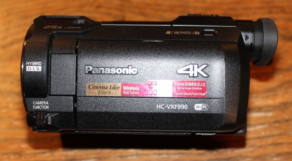 4K Camcorder: Panasonic HC-VXF990EBK - Wireless Multi Camera Function