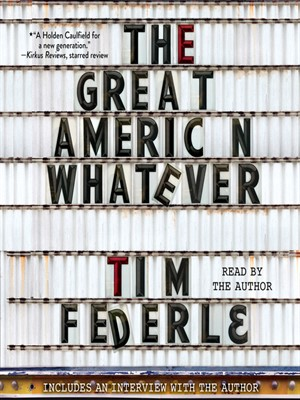 Book To Read - The Great American Whatever -  Tim Federle