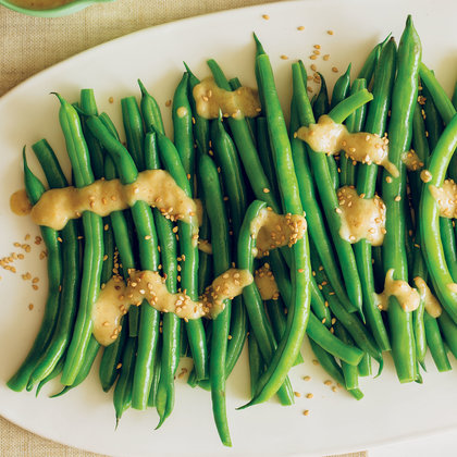 Green Beans Recipe with Miso-Sesame Sauce