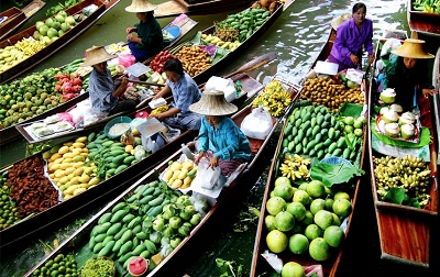 Floating Markets in Bangkok