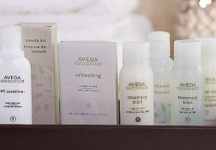 Aveda Renaissance Hotels bathroom amenities