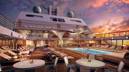 Seabourn Encore main deck cruise ship to europe countries