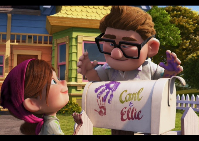 Carl and Ellie love story