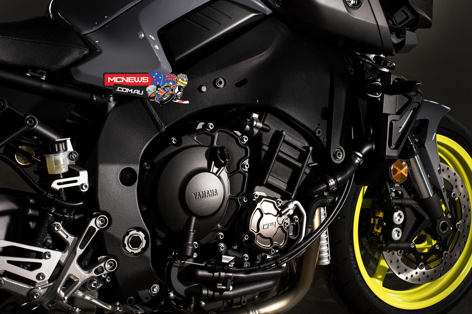 Engine of Yamaha MT 10