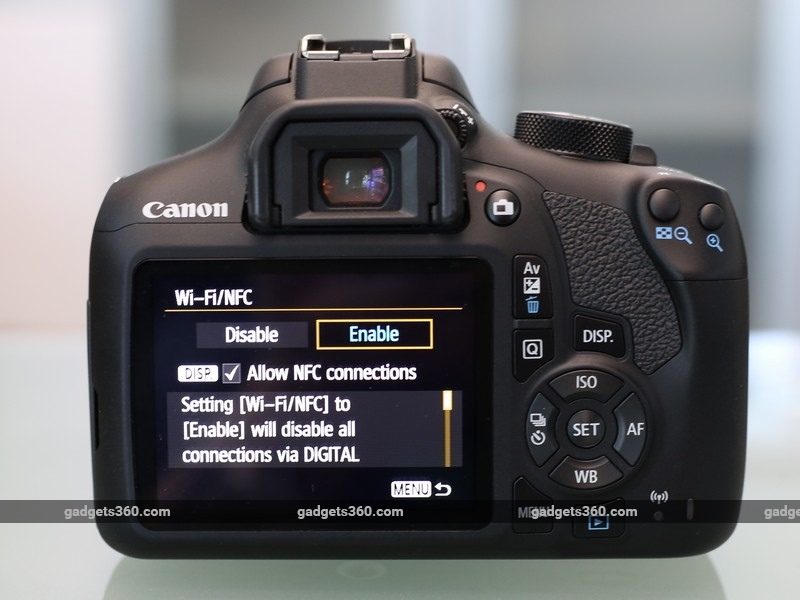 Canon EOS 1300D screen