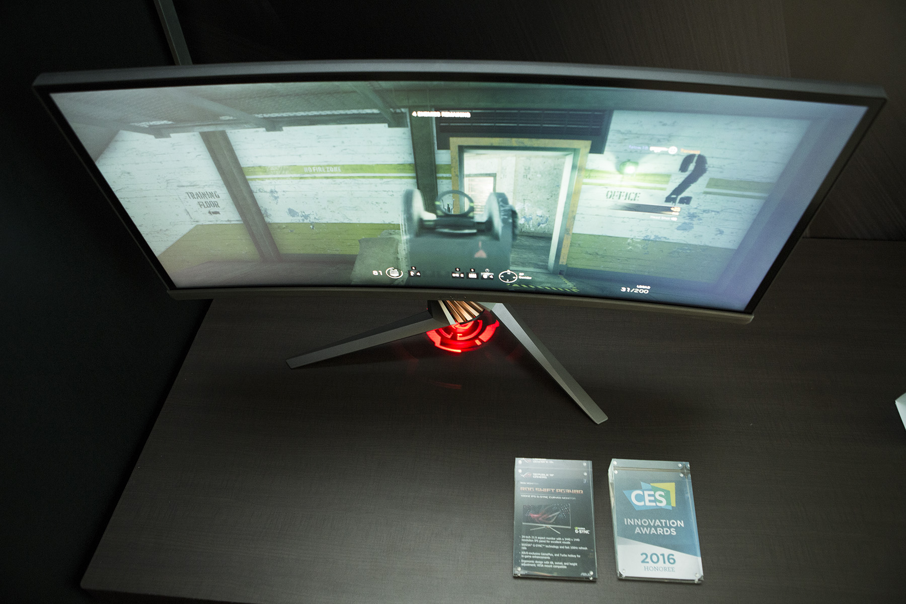 Asus ROG Swift PG348Q-curved screen