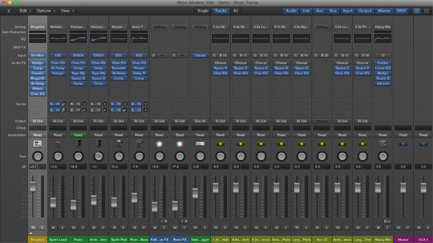 Apple Logic Pro X 10.1 Mixer