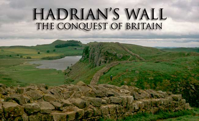 Hadrian wall in the United Kingdom