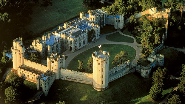 Warwick castle in the United Kingdom