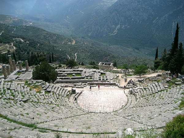 Delphi theater in Greece