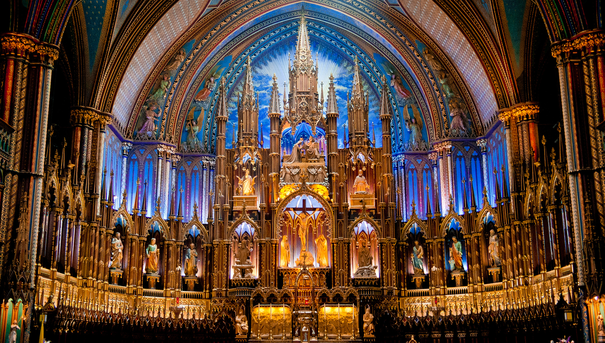 The church of Notre Dame in Canada