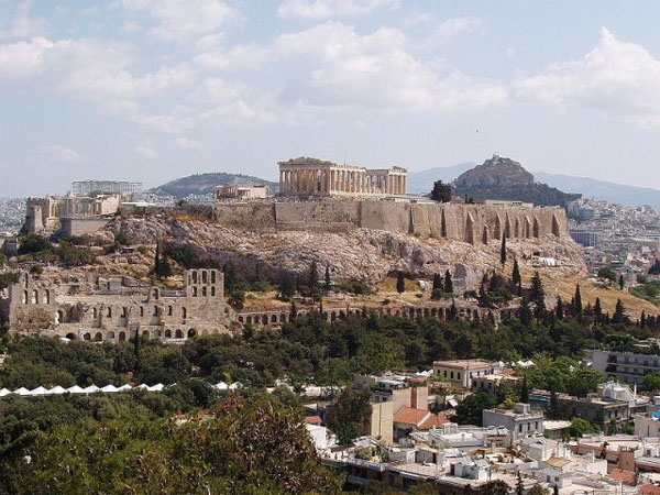 Parthenon in Greece