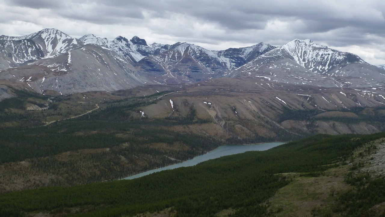 Stone mountain of rockies in canada