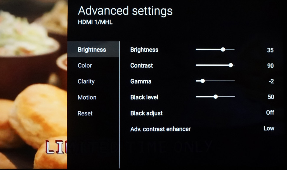 Sony XBR-49X830C Picture Settings