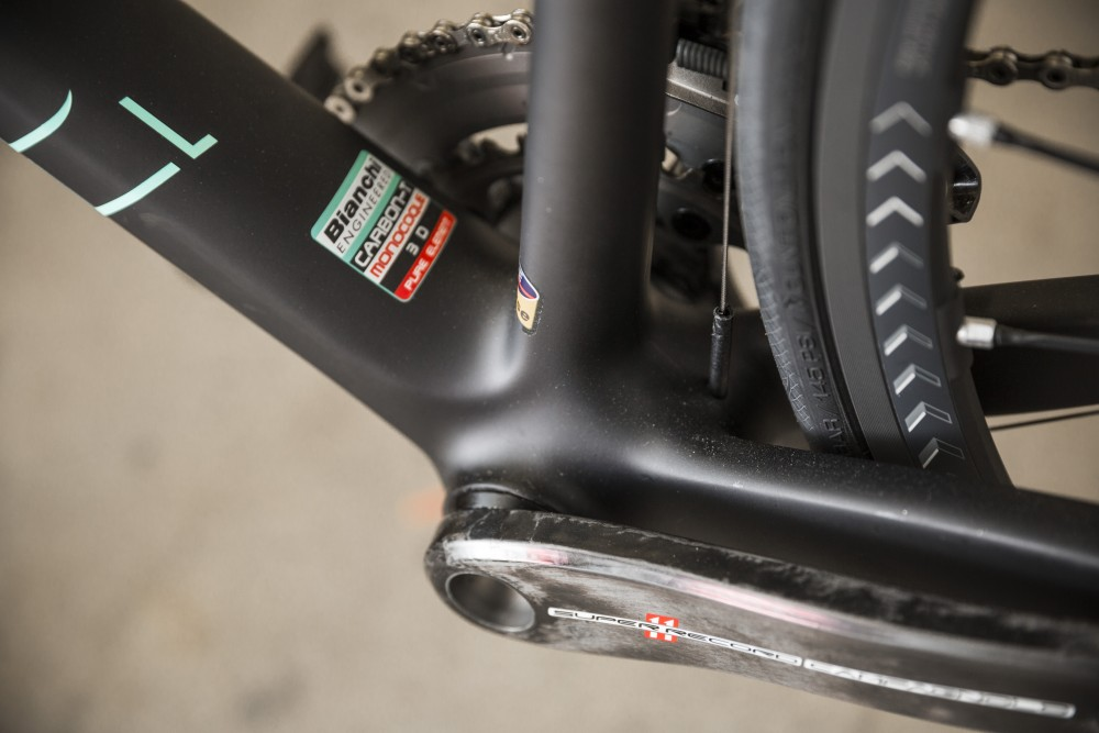 Bottom bracket stiffness is as impressive as the Specialissima's overall weight