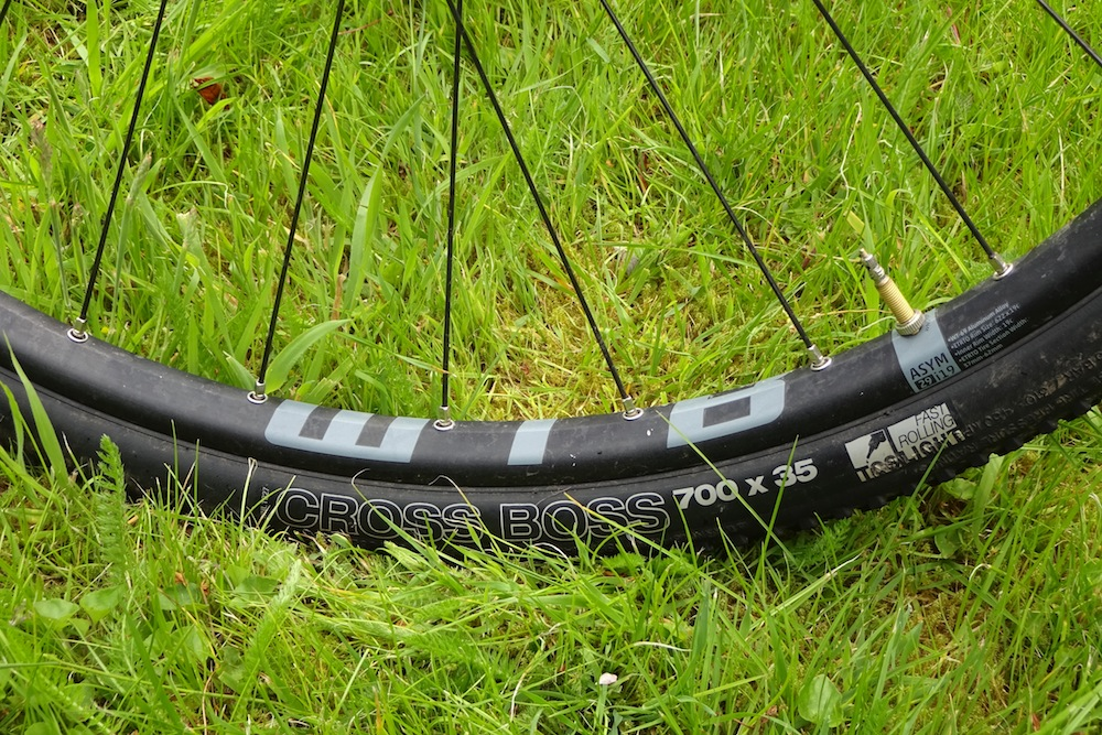Santa Cruz Stigmata Review - WTB supplies the rims and high volume 35mm tyres