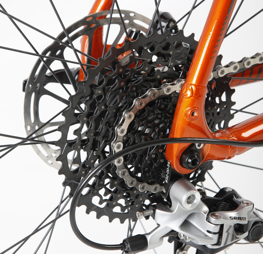 Raleigh Mustang Comp Review - Mustang comes with a wide gear range thanks to its broad ratio cassette
