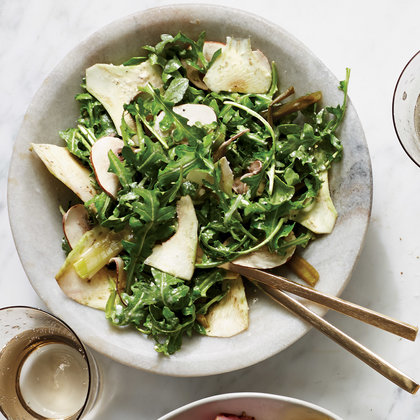 Arugula Salad with Shaved Artichokes
