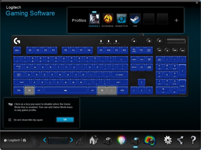 Logitech G810 Orion Spectrum (Game Mode)