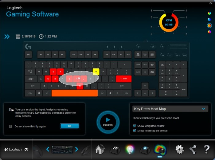 Logitech G810 Orion Spectrum (Heatmap)